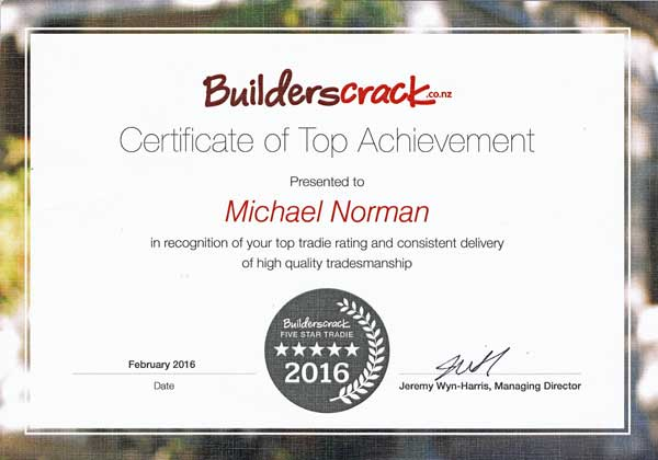 Builders Crack award to Michael Norman of the Cat Door Company