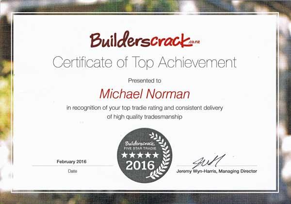 Builders Crack award to Michael Norman of the Cat Door Company