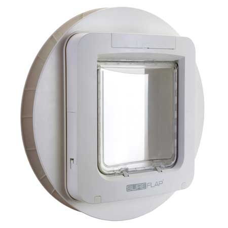 SureFlap large microchip pet door (white) for glass