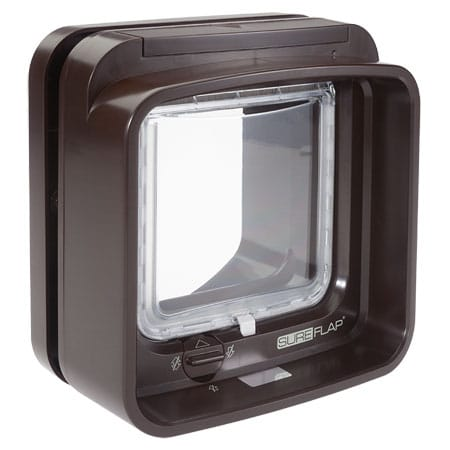 SureFlap DualScan microchip cat door (white) interior view