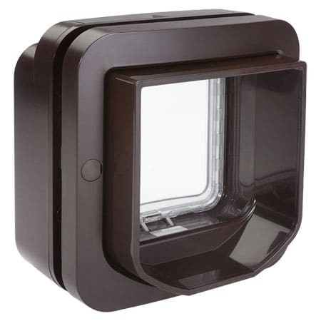 SureFlap DualScan microchip cat door (brown) exterior view
