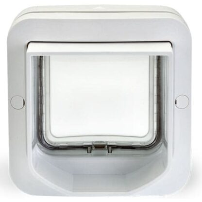 SureFlap DualScan microchip cat door (white) exterior view