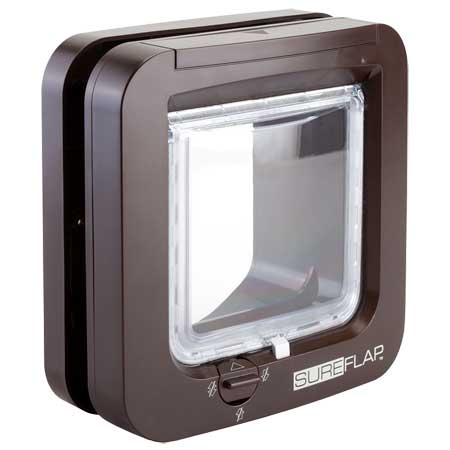 SureFlap microchip cat door (brown) for timber