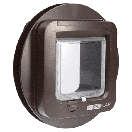 SureFlap microchip cat door (brown) for glass - interior view