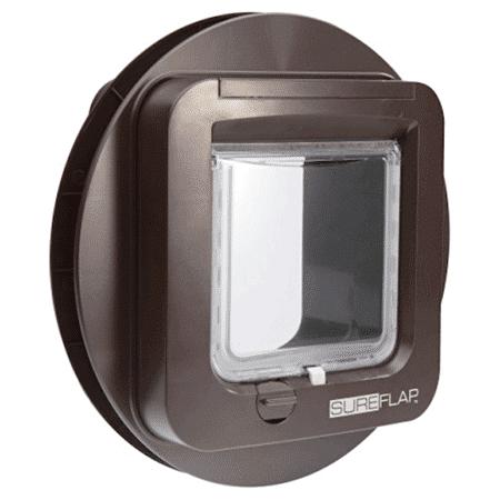 SureFlap microchip cat door (brown) for glass - interior view
