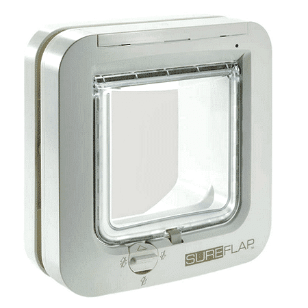 SureFlap microchip cat door (white) for timber - interior view