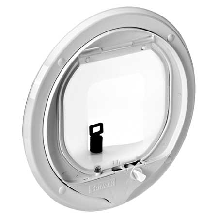 Catwalk G-MCDW magnetic cat door (white) interior view