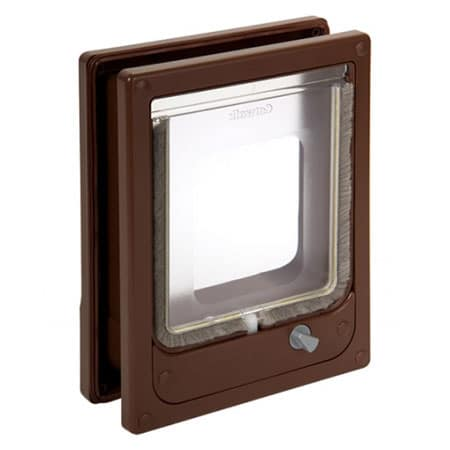 Catwalk W-MCDB magnetic cat door (brown) for timber