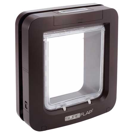 SureFlap large microchip pet door (brown) for timber