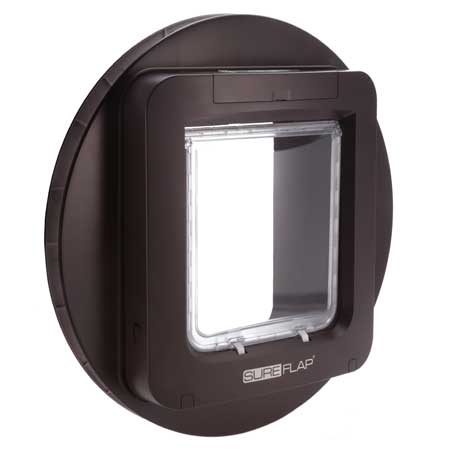 SureFlap large microchip pet door (brown) for glass