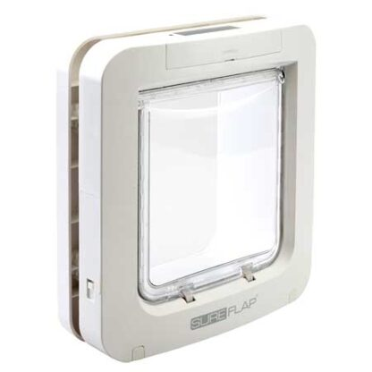 SureFlap large microchip pet door (white) for timber