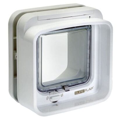 SureFlap DualScan microchip cat door (white) interior view