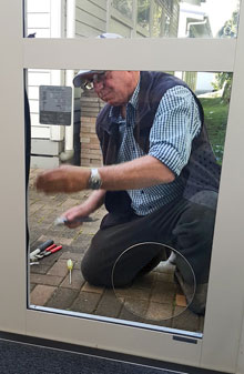 Cat Door Company Installing a SureFlap microchip cat door at Hay Park School in Auckland